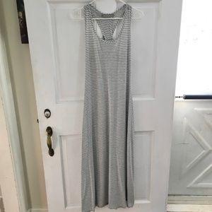 WOMEN'S finn & clover Striped Maxi Dress SIZE M